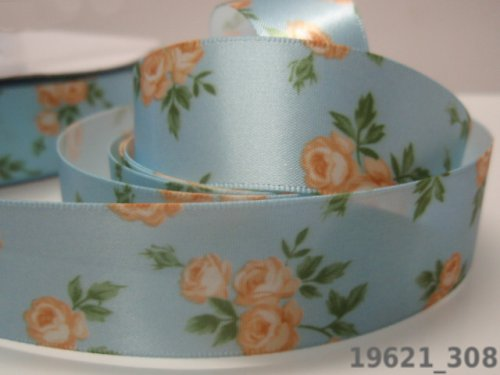 19621-B03 Stuha růže SV.MODRÉ 25mm, svazek 2m