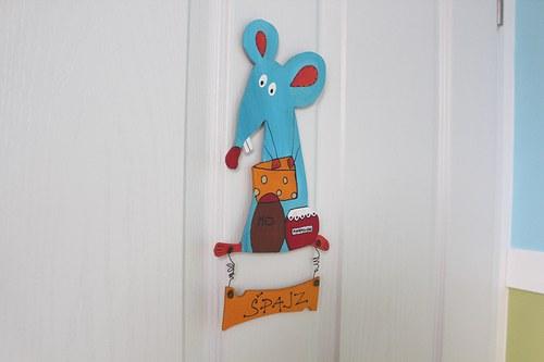 Dřevěná cedulka na dveře ŠPAJZ