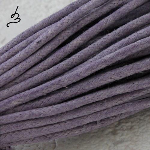Bavlněná šňůrka 2 mm fialová