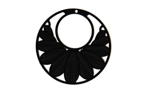 měděný přívěsek kolečko 3cm černé