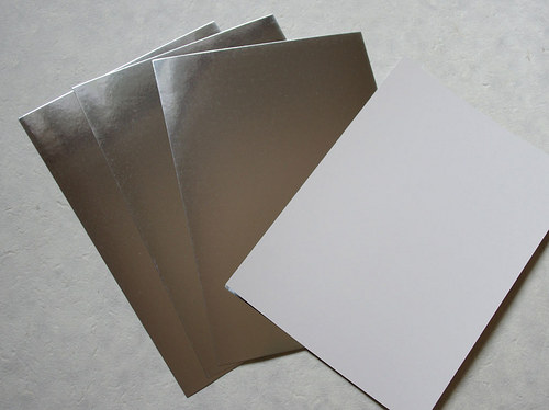Metalický papír - stříbrný