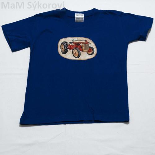 Tričko s naší originální aplikací čer. traktor 122