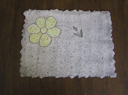 keramické prostírání s motivem kytky