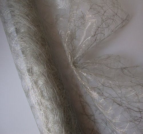 Dekorační tkanina stříbrná