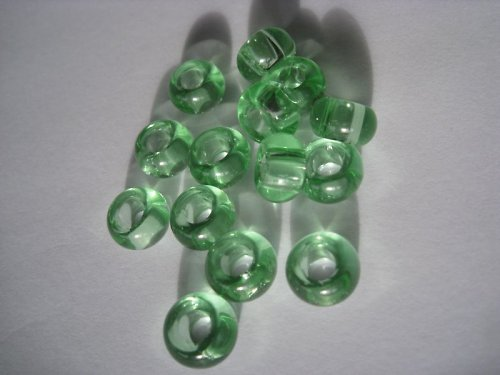 Zelenkaté skleněnky , cena je za 2 KS
