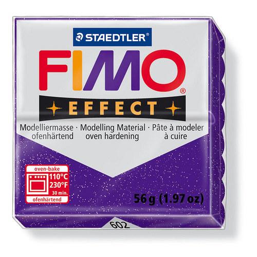 Fimo effect třpytivá purpurová 604