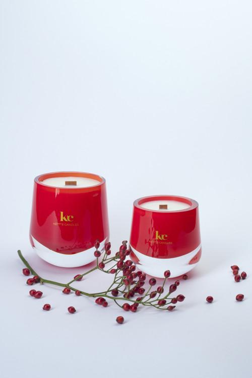 Christmas Hearth - svíčka s dřevěným knotem