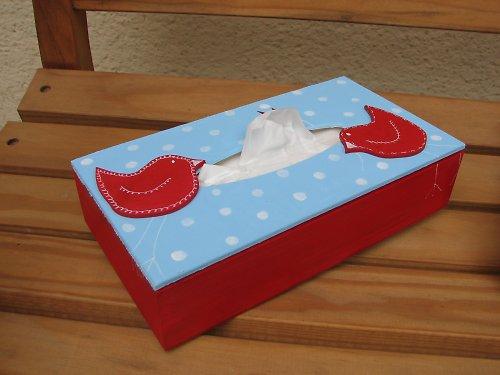 Krabička na kapesníčky ze série PUNTÍK