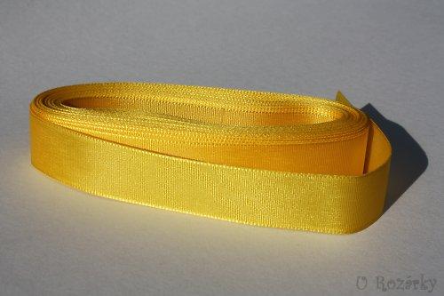 Stuha taftová  šíře 20 mm - cena za 5 m! (žlutá)