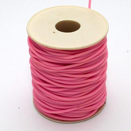 Světle růžová šňůrka - dutinka / 2mm