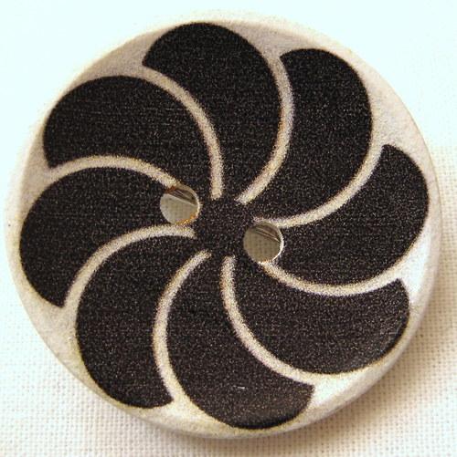 knoflíková sponkobrož černý větrník