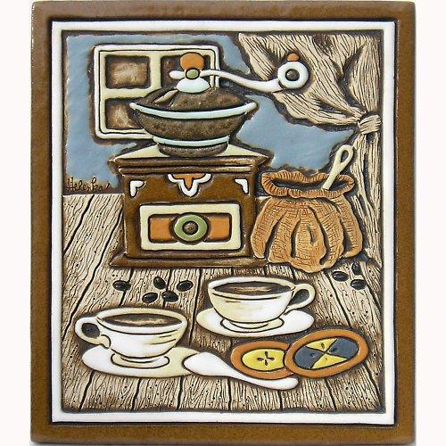 Keramický obrázek - Mlýnek a koláče K-119-N