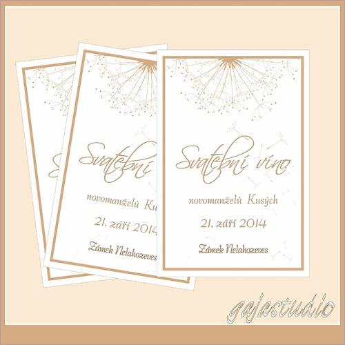 Etiketka na svatební víno NO_9