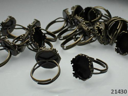 21430 Prsten.základ BRONZ s ozdobným lůžkem, á 1ks