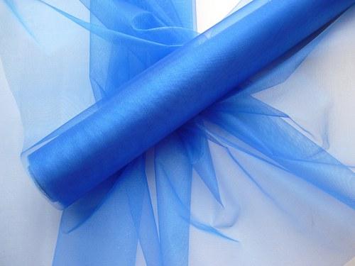 Organza tmavě modrá neobroubená (barva č. 36)