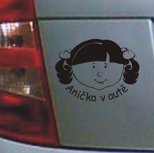 Samolepka dítě v autě I.