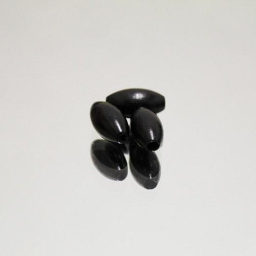 Dřevěné korálky černé 15mm, 18ks