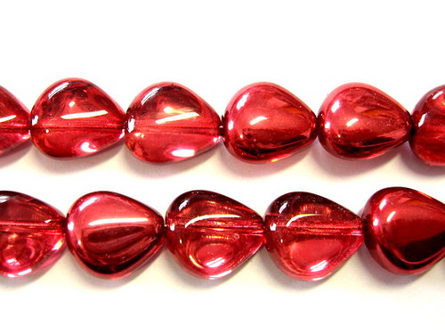 0300944/Trojúhelníková olivka červená+pokov 10 ks