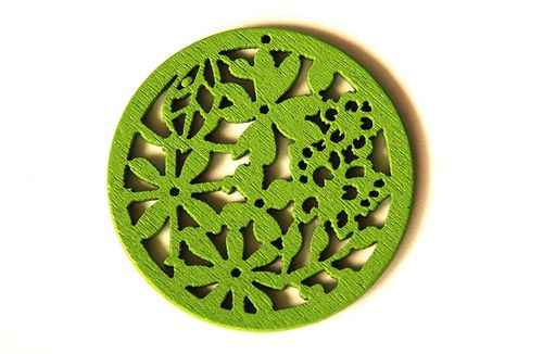 dřevěná kolečka- světle zelená