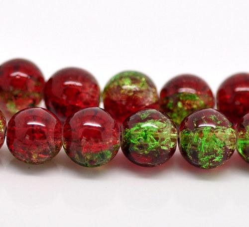 práskačky/ zeleno-červené/ 10mm/ 15ks