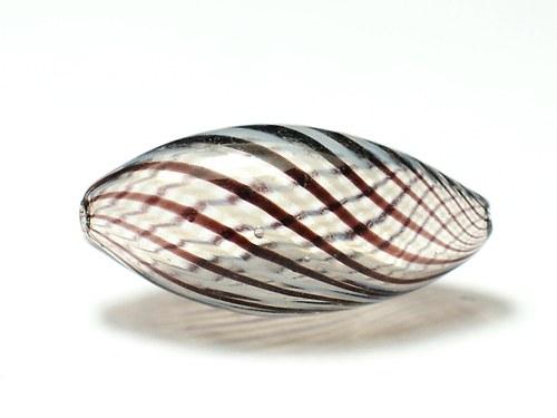 skleněný foukaný korálek 12x25mm