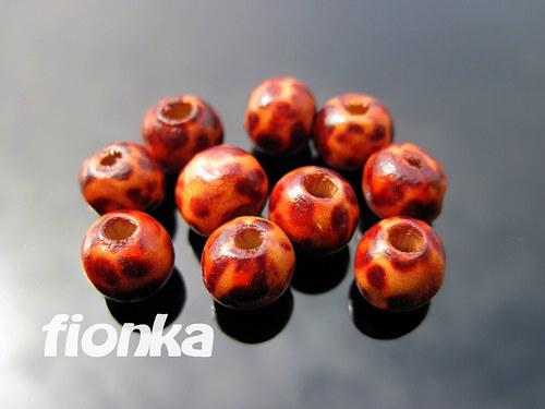 20, Korálky dřevěné 8mm 10ks/15,-