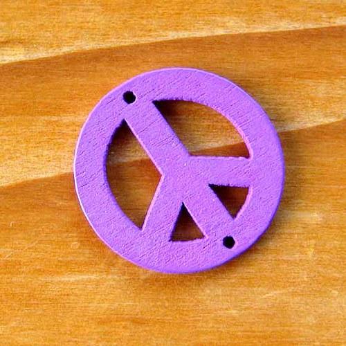 Dřevěný Hippies - Fialový