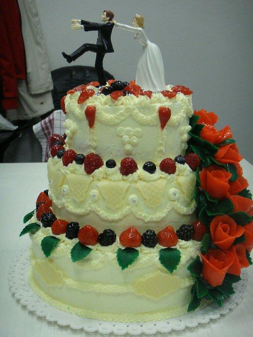 Velký svatební dort