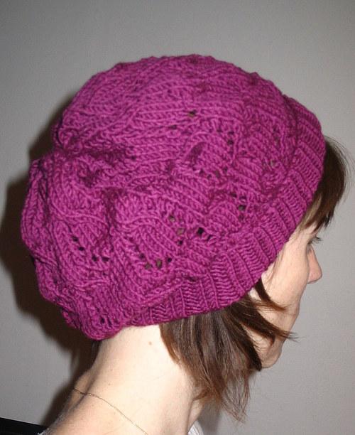 popis na pletenou čepici