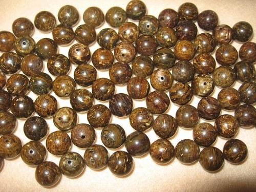 Bronzit   kuličky 10 mm přírodní (cena 2ks)