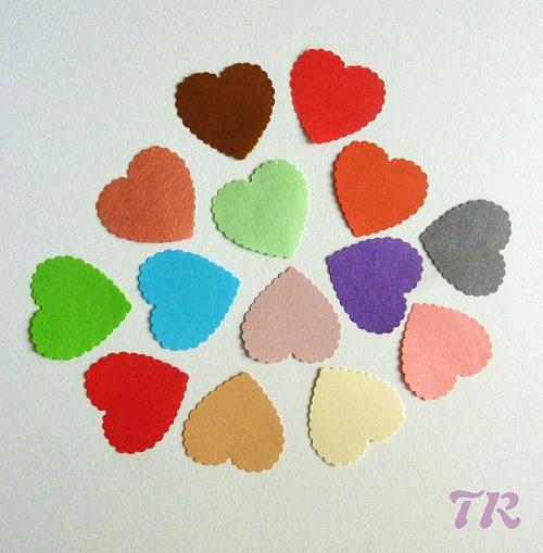 Srdíčko výsek různé barvy