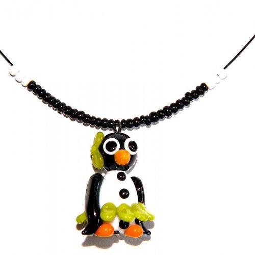 Tučňáčí holka v zelené sukni - vinutá perle