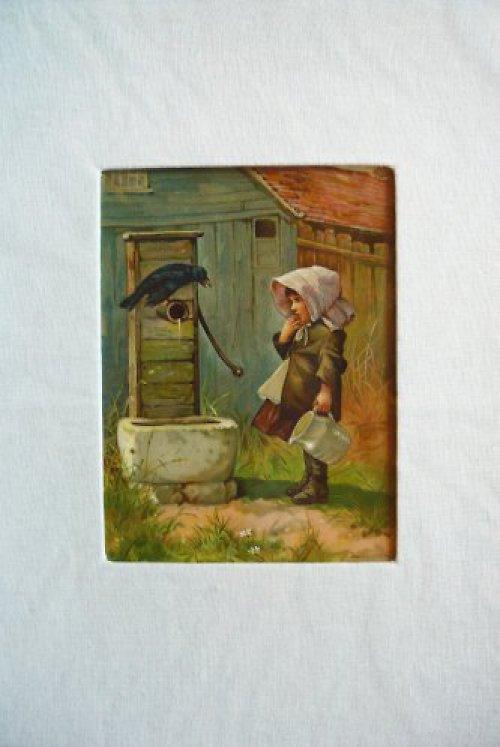 Originální litografie s dětským motivem