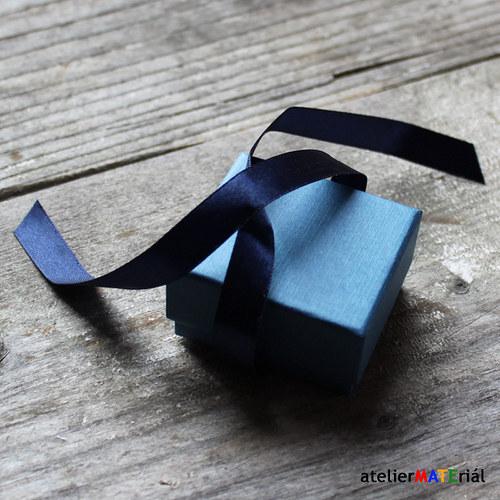 Papírová krabička zavazovací S modrá