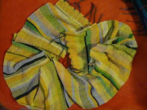 Pruhatá ručně tkaná šála.-)