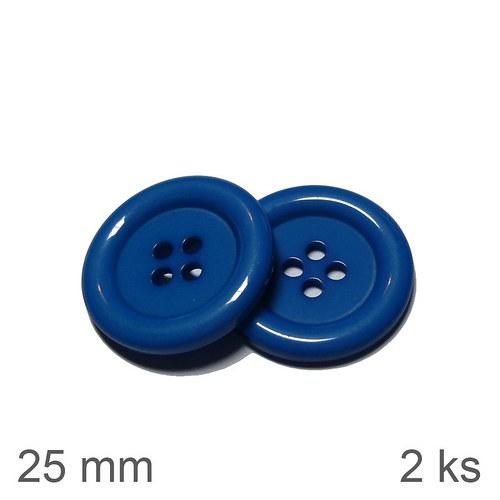 Knoflíky 25 mm modré 2 ks