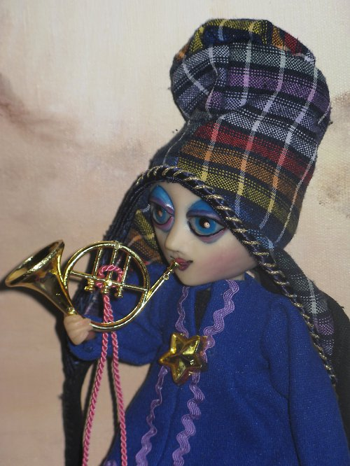 autorský panáček Muzikant Trumpetka