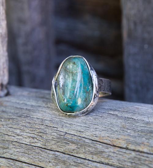 Chryzokol - prsteň