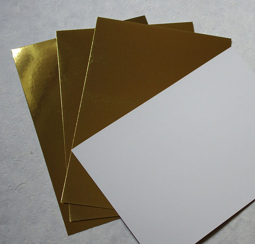 Metalický papír - zlatý