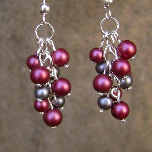 Vínovo-šedé perličky