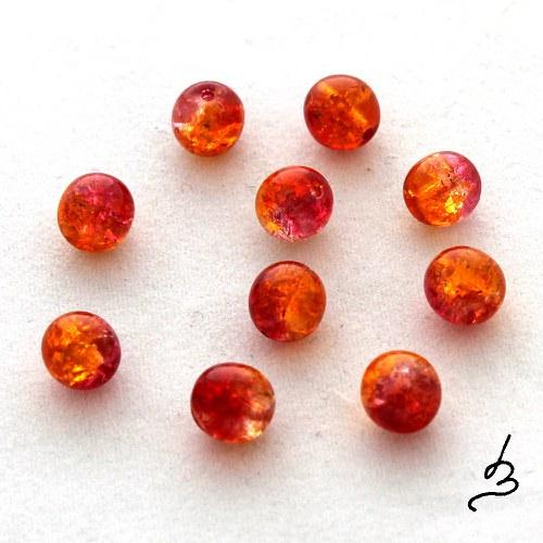 Praskačky 6 mm červenooranžové - 10 ks