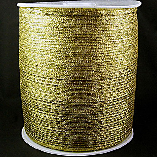 stuha lurexová/3mm/ zlatá/ 1m