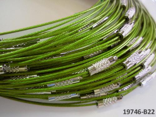 19746-B22 Lanko se šroubkem zelená LIMETKA