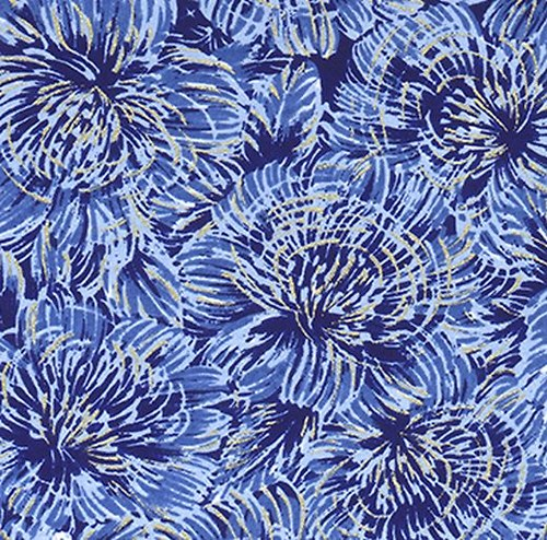 Handmade papír - Modré divoké květy