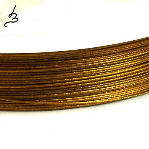 Ocelové lanko zlaté 0,38
