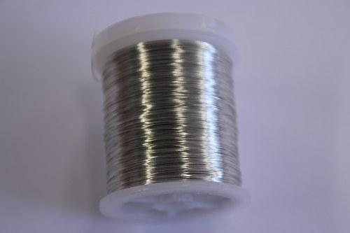 Měděný drátek 03mm - platina, návin 48,5-50m