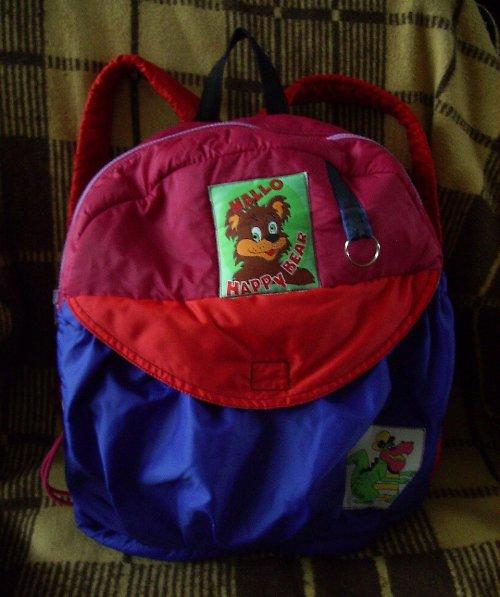 Šitý batoh pro holčičku +malý dárek