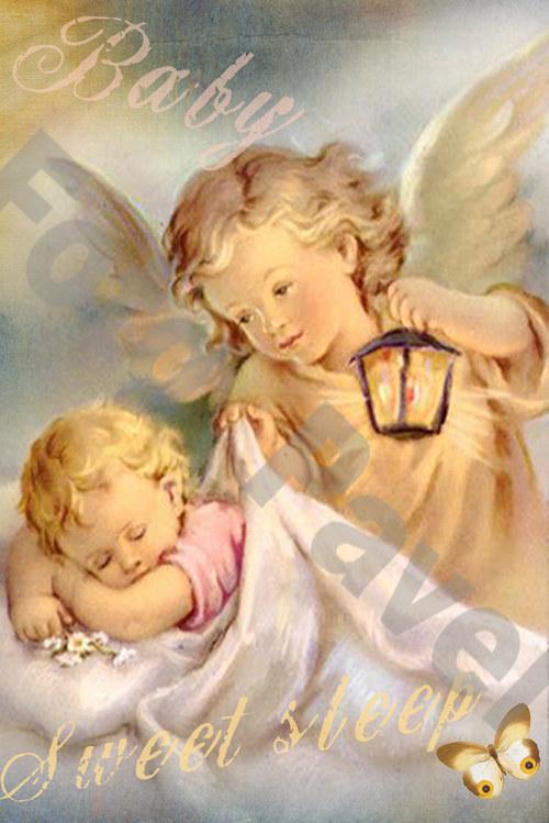 Vintage motiv - strážný anděl 1