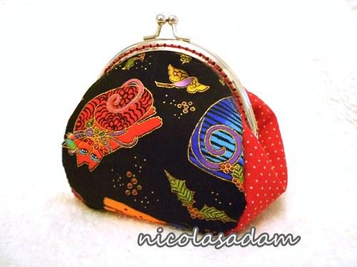 Rámečková kabelička-peněženka-kosmetická taštička