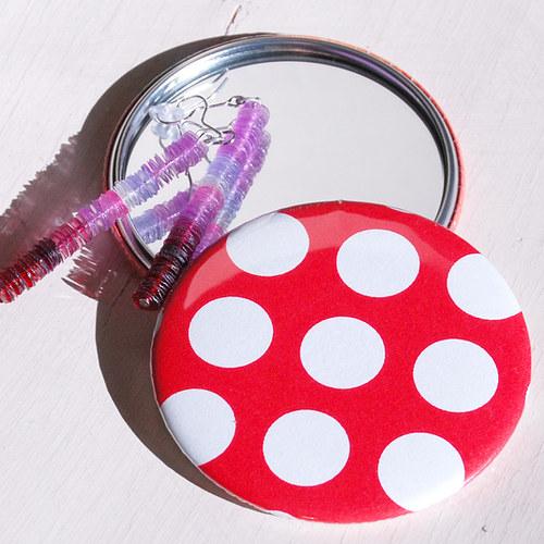 Zrcátko Puntíky (75 mm) s pytlíčkem